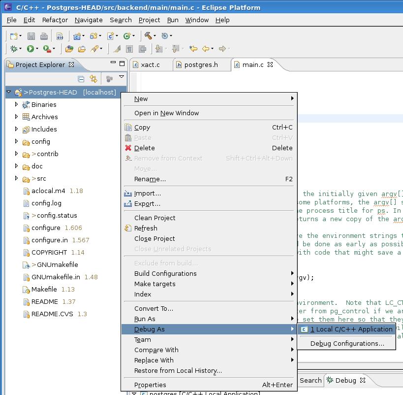 Working with Eclipse - PostgreSQL wiki